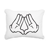 Dope hand Rectangle Canvas Pillows