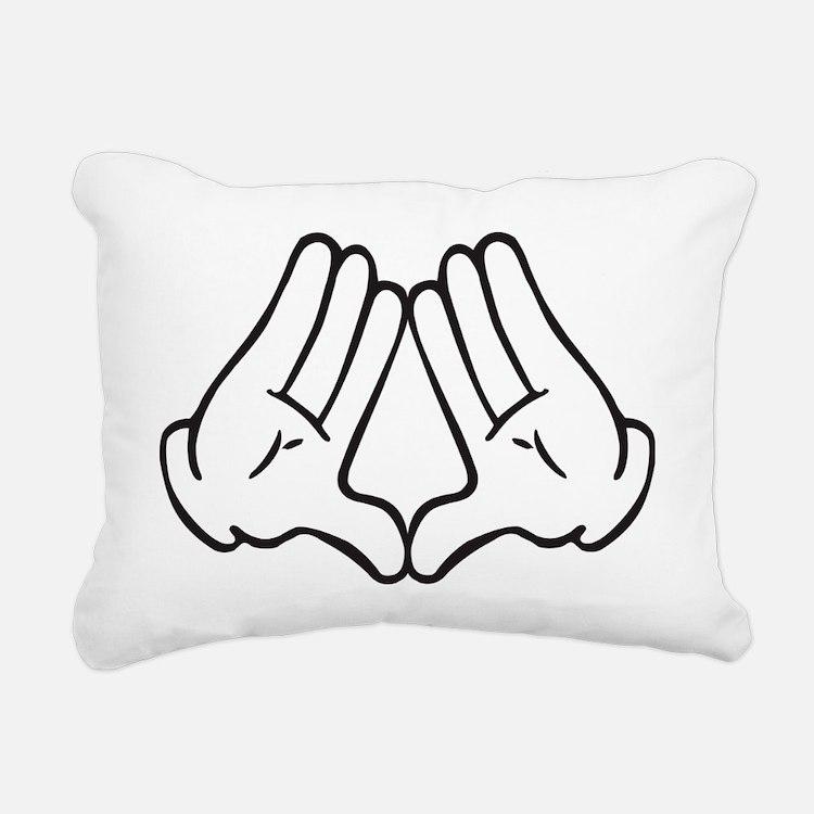 Dope Hands Illuminati Tr Rectangular Canvas Pillow