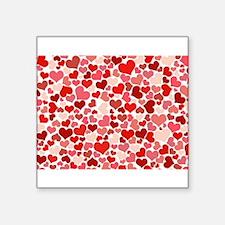 """Cute Couples valentine Square Sticker 3"""" x 3"""""""