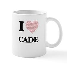 I Love Cade (Heart Made from Love words) Mugs