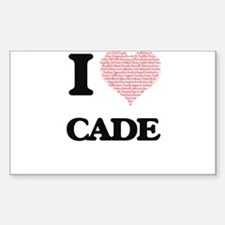 I Love Cade (Heart Made from Love words) Decal