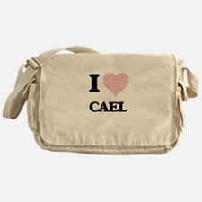 I Love Cael (Heart Made from Love wo Messenger Bag