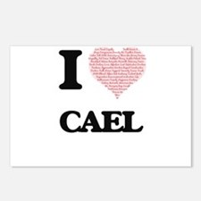 I Love Cael (Heart Made f Postcards (Package of 8)