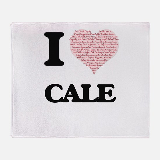 I Love Cale (Heart Made from Love wo Throw Blanket