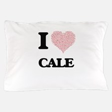 I Love Cale (Heart Made from Love word Pillow Case