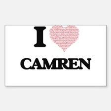 I Love Camren (Heart Made from Love words) Decal