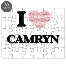 I Love Camryn (Heart Made from Love words) Puzzle