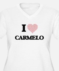 I Love Carmelo (Heart Made from Plus Size T-Shirt