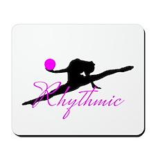 Pink Rhythmic Gymnast Mousepad