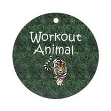 TOP Workout Animal Ornament (Round)