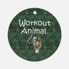 Workout Animal Round Ornament
