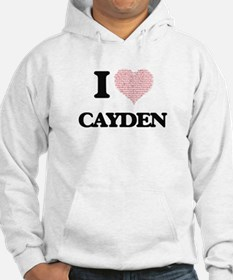 I Love Cayden (Heart Made from L Hoodie