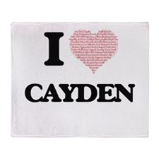 I Love Cayden (Heart Made from Love Throw Blanket