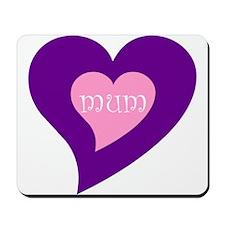 Hearts design MUM Mousepad