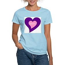 Hearts design mom/mum T-Shirt