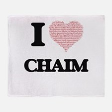 I Love Chaim (Heart Made from Love w Throw Blanket