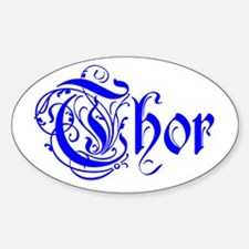 Thor Five Store Oval Decal