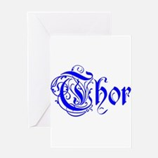 Thor Five Store Greeting Card