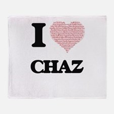 I Love Chaz (Heart Made from Love wo Throw Blanket