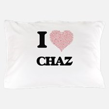 I Love Chaz (Heart Made from Love word Pillow Case