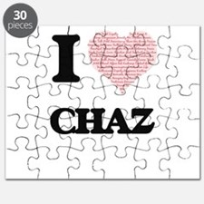 I Love Chaz (Heart Made from Love words) Puzzle