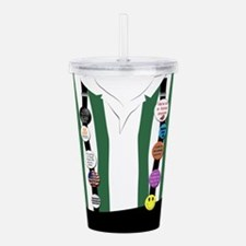 Flair on Suspenders Acrylic Double-wall Tumbler