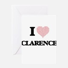I Love Clarence (Heart Made from Lo Greeting Cards