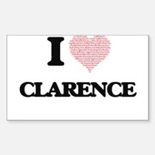 I Love Clarence (Heart Made from Love word Decal