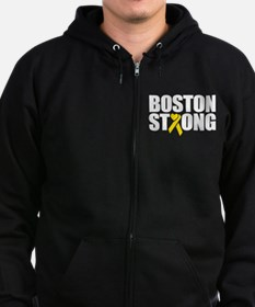 Unique Boston running Zip Hoodie (dark)