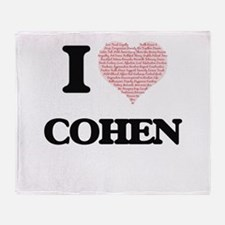 I Love Cohen (Heart Made from Love w Throw Blanket