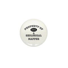 Property of a Geological Mapper Mini Button (10 pa