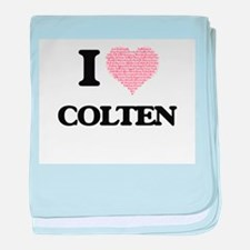 I Love Colten (Heart Made from Love w baby blanket