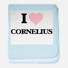 I Love Cornelius (Heart Made from Lov baby blanket