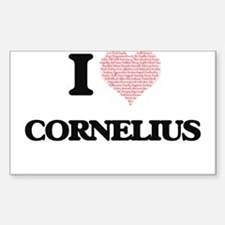 I Love Cornelius (Heart Made from Love wor Decal