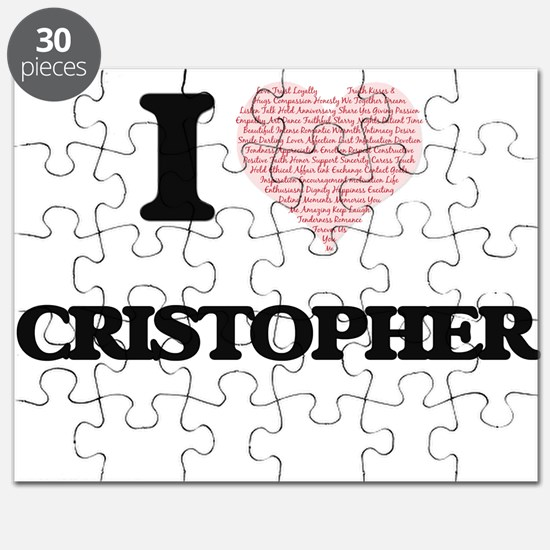 I Love Cristopher (Heart Made from Love wor Puzzle