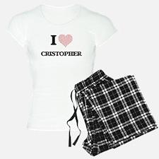 I Love Cristopher (Heart Ma Pajamas