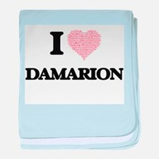 I Love Damarion (Heart Made from Love baby blanket
