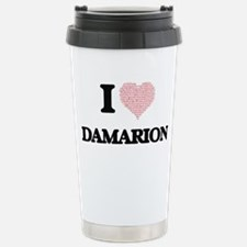 I Love Damarion (Heart Travel Mug
