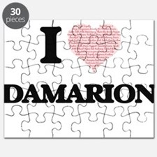 I Love Damarion (Heart Made from Love words Puzzle