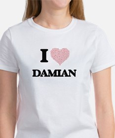 I Love Damian (Heart Made from Love words) T-Shirt