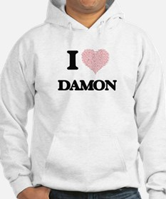 I Love Damon (Heart Made from Lo Hoodie