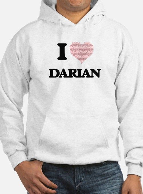 I Love Darian (Heart Made from L Hoodie