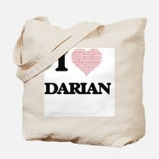I Love Darian (Heart Made from Love words Tote Bag