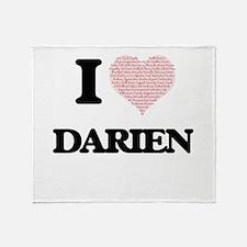 I Love Darien (Heart Made from Love Throw Blanket