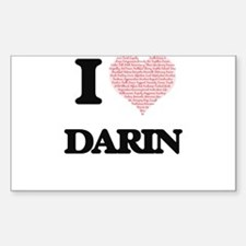 I Love Darin (Heart Made from Love words) Decal