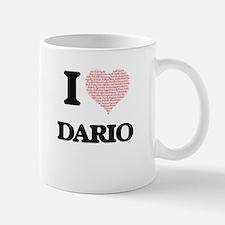 I Love Dario (Heart Made from Love words) Mugs