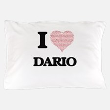 I Love Dario (Heart Made from Love wor Pillow Case