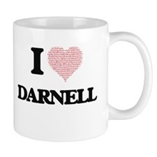 I Love Darnell (Heart Made from Love words) Mugs