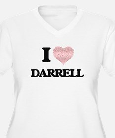 I Love Darrell (Heart Made from Plus Size T-Shirt