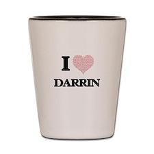 I Love Darrin (Heart Made from Love wor Shot Glass